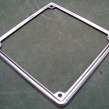 stainless number plate surround