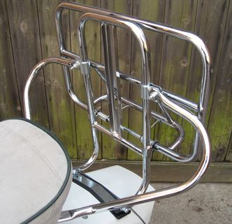 Lambretta chrome rear carrier/ wheel holder image #1