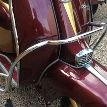 Lambretta series 3 crashbars U.K made for Disco Dez