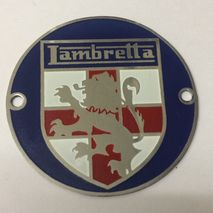 Lambretta Concessionaires badge- blue
