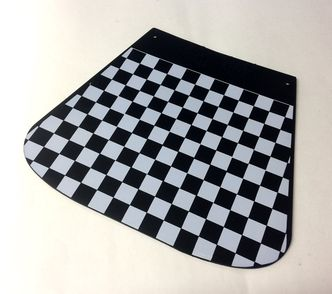 Chequered mudflap Cuppini Black & White image #1