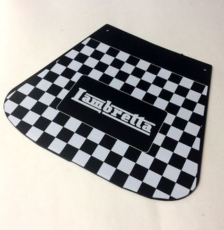 Lambretta chequered mudflap Cuppini Black & White image #1