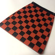 Italian chequered mudflap black & red