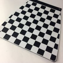 Italian chequered mudflap black & white