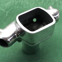vespa polished alloy handlebar clamp
