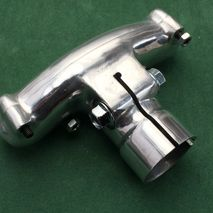 vespa polished alloy handlebar clamp - early 1950's