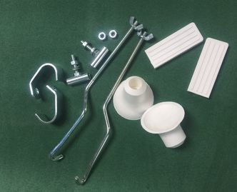 Front rack fixing kit CUPPINI white rubbers image #1