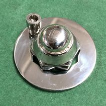 Lambretta wheel nut and lock ring POLISHED STAINLESS