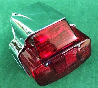 Vespa SS180 rear light chromed plastic image #1