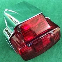 Vespa SS180 rear light chromed plastic