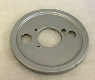 Vespa SS180/GS160 front hub backplate image #1