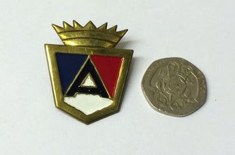 ARDOR shield badge 3mm stud fixing image #1