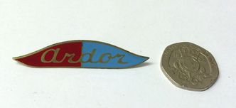 "ARDOR ""wing"" badge 3mm stud fixing image #1"
