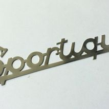 Vespa Sportique legshield badge