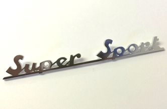 Vespa SS180 rear frame badge image #1