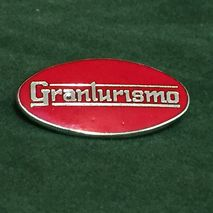 GRANTURISMO oval enamel lapel pin badge Red