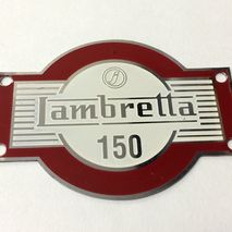 lambretta LD 150 accessory badge red