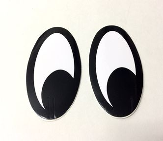Moon eyes (looking left) self adhesive decals image #1