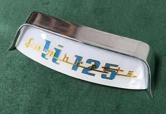 Lambretta curved rear frame badge and holder for LI 125 image #1