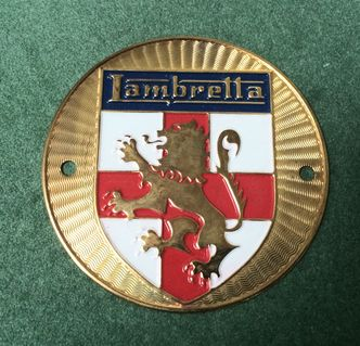 Lambretta Concessionaires brass shield badge S1 & 2 image #1