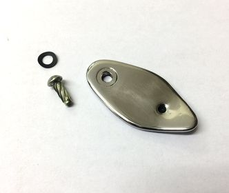 Vespa lock cover 1962-1978 polished stainless image #1