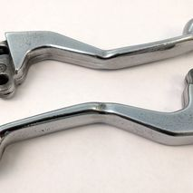 "Vespa polished ""dogleg"" levers NOS 1980's"
