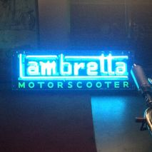 Lambretta Neon Sign (blue)
