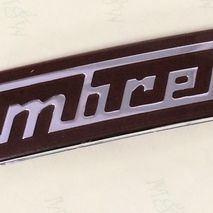 Lambretta Clamshell embellisher accessory badge (red)Series 1 & 2
