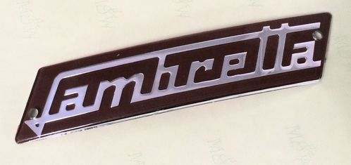 Lambretta Clamshell embellisher accessory badge (red)Series 1 & 2 image #1