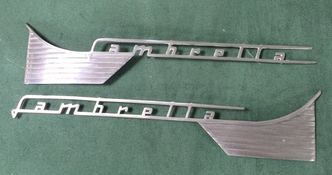 Lambretta series 1 & 2 side panel badges set of 2 image #1