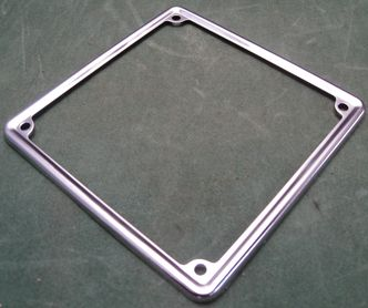 stainless number plate surround  image #1