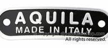 Vespa AQUILA made in Italy seat badge