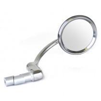 Halcyon bar end mirror polished SS and chrome image #1