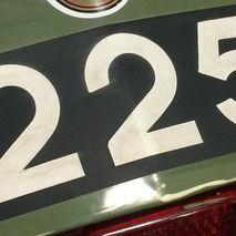 Racing CC plate Black & White adhesive
