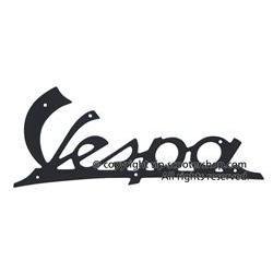 Vespa VNA leg shield badge  image #1