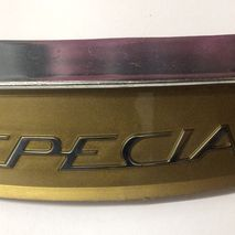"""Lambretta Golden """"Special"""" rear frame curved badge and badge holder Series 3"""