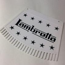 Italian Lambretta mudflap with tassels Black & White
