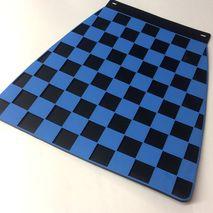 Italian chequered mudflap Blue & Black