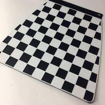Italian chequered mudflap black & white