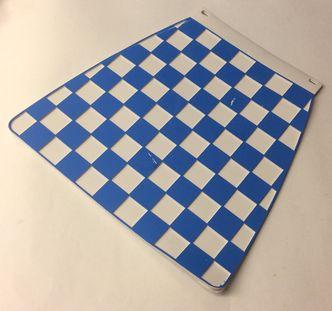 Italian chequered mudflap Blue & White image #1