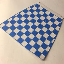 Italian chequered mudflap Blue & White