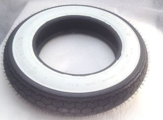 Continental 3.50 x 10 K62WW white wall tyre  image #1