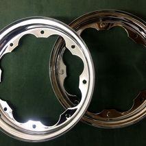 Lambretta BGM chrome wheel rims 3.50 x 10 SX/TV etc