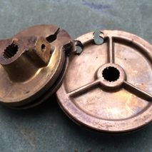 lambretta brass pulley wheels