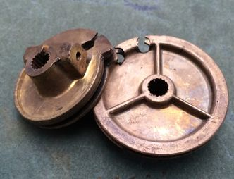lambretta brass pulley wheels image #1
