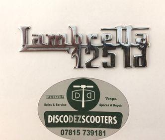 Lambretta 125 LD legshield badge NOS image #1