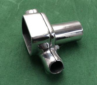 vespa polished alloy handlebar clamp image #1