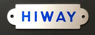 HIWAY seat badges New Old Stock originals image #1