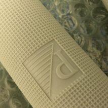 "Vespa ""P"" logo grey 24mm grips SS180/GL/SS90/Sprint/V90"