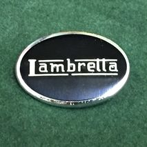 Lambretta oval enamel lapel pin badge black